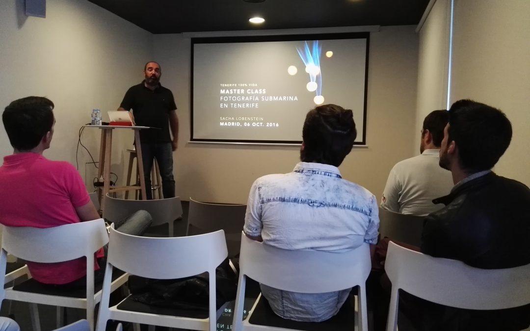 Master Class en Madrid sobre «Fotografía Submarina en Tenerife»